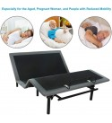 BAHOM Adjustable Bed Base Full with Wireless Remote, Electric Bed Frame Ergonomics with Quick Installation, Noiseless (Full)