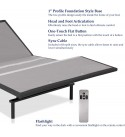 Continental Sleep Spinal Solution Adjustable Bed with Head and Foot Lift, Twin X-Large, Off-White