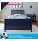 Max & Lily Solid Wood Twin-Size Bed, Blue