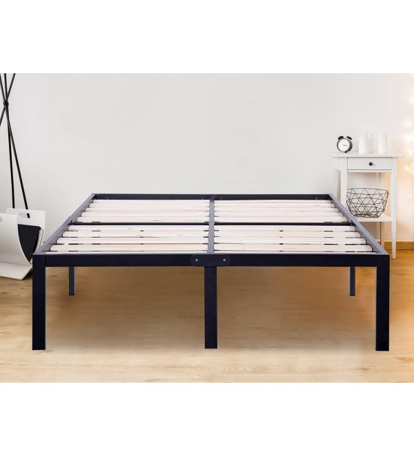 SLEEPLACE 14 Inch ST-3000 Ultra 3 Inch Wood Slat Bed Frame, King